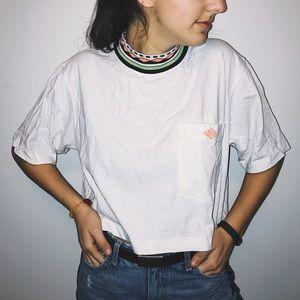 Gotcha Fresh Solid White Crop T-Shirt